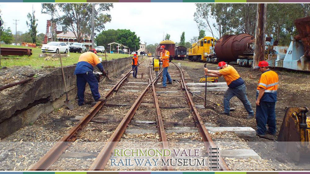 Trackwork on Richmond Vale Railway Museum